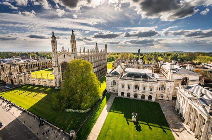 Die bekannte University of Cambridge im Vereinigten Königreich